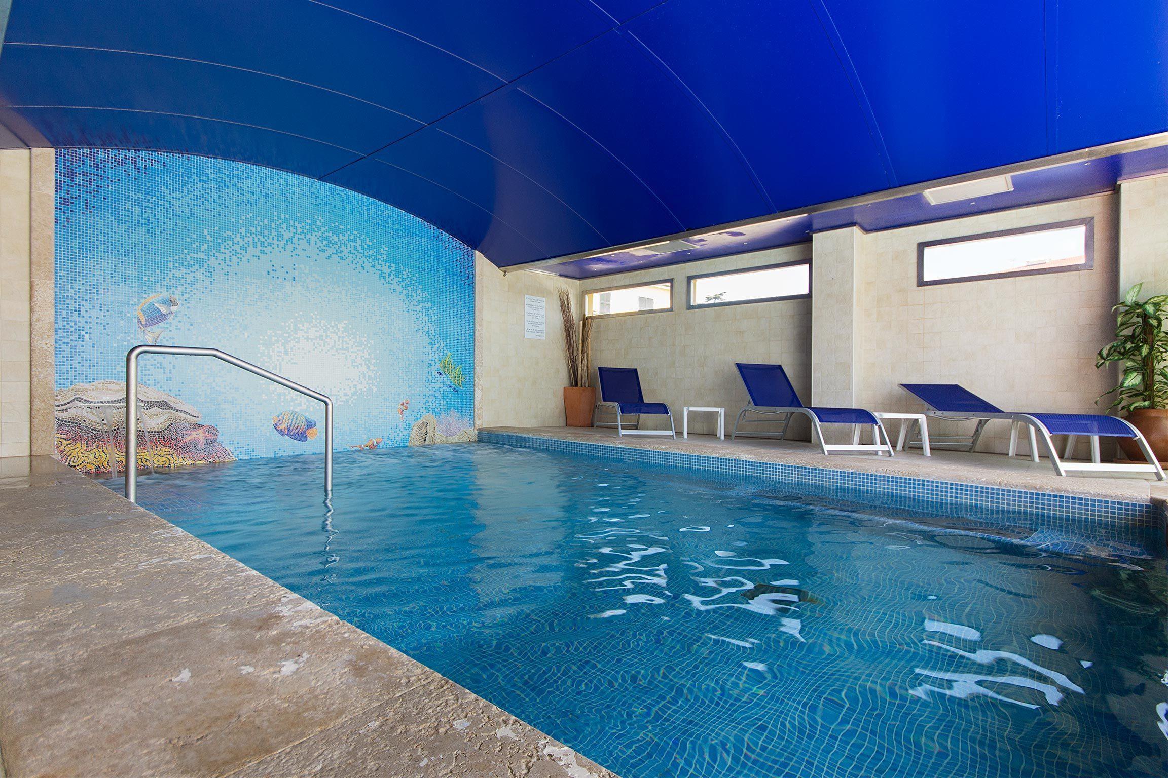 hotel con piscina a diano marina - zona wellness coperta
