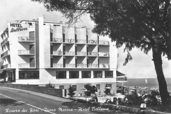 hotel a diano marina - hotel bellevue 1954